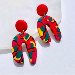 Funkadelic Modern Pushbacks Polymer Clay Earrings